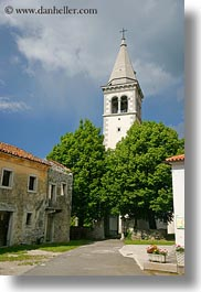 bell towers, churches, europe, scenics, slovenia, vertical, photograph