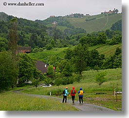 days, europe, hikers, horizontal, rainy, slovenia, styria, photograph