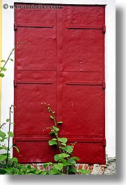 doors, europe, ivy, red, slovenia, styria, vertical, photograph