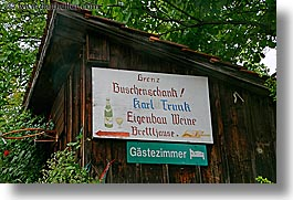 barn, europe, horizontal, signs, slovenia, styria, wines, photograph