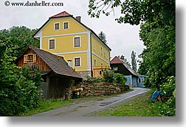 europe, horizontal, houses, slovenia, styria, yellow, photograph