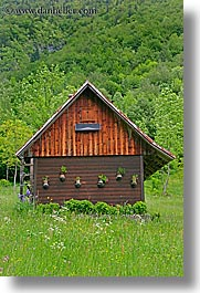 barn, europe, fields, slovenia, triglavski narodni park, vertical, wildflowers, photograph