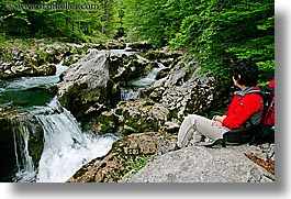 europe, forests, horizontal, ingrid, lush, rivers, rushing, slovenia, triglavski narodni park, waterfalls, womens, photograph