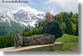 barry, barry goldberg, europe, groups, happy, horizontal, men, mountains, scenics, slovenia, snowcaps, photograph