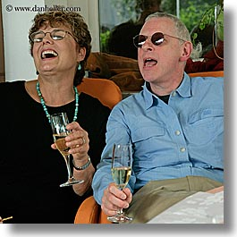 barry, barry goldberg, champagne, europe, groups, happy, laugh, men, patty, slovenia, square format, womens, photograph