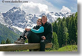 bob, couples, europe, groups, happy, horizontal, marilyn, men, mountains, scenics, slovenia, snowcaps, womens, photograph