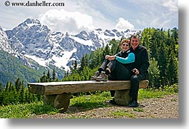 bob, couples, europe, groups, happy, horizontal, laugh, marilyn, men, mountains, scenics, slovenia, snowcaps, womens, photograph