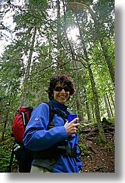 europe, forests, groups, hikers, ingrid, ingrid cercek, slovenia, sunglasses, vertical, womens, photograph