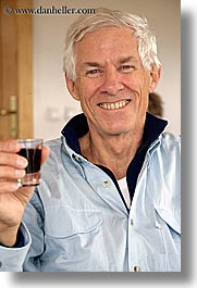 clark, europe, groups, james, men, patty, red wine, shot glass, slovenia, vertical, wines, photograph