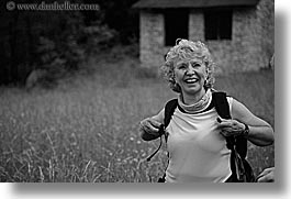 black and white, blalock, europe, groups, happy, hikers, horizontal, jenna, jim, laugh, slovenia, womens, photograph
