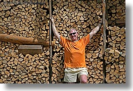 europe, firewood, groups, horizontal, men, richard, richard bell, slovenia, photograph