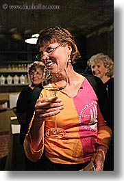 christie, christy, europe, groups, laughing, slovenia, stuart, vertical, wine glass, wines, womens, photograph