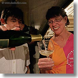 christie, christy, europe, groups, pouring, slovenia, square format, stuart, valter, wine glass, wines, womens, photograph