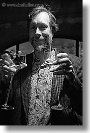 black and white, christie, double fisted, europe, groups, men, slovenia, stuart, vertical, wine glass, wines, photograph