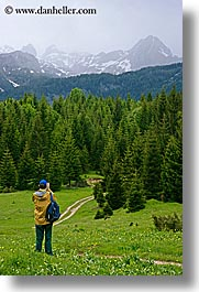 christie, europe, groups, hikers, hiking, mountains, photographers, photographing, scenics, slovenia, snowcaps, stuart, vertical, photograph