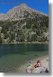 aiguestortes hike, europe, families, lakes, mountains, nature, spain, vertical, photograph