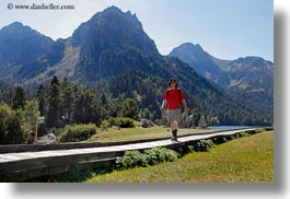 activities, aiguestortes hike, europe, hikers, hiking, horizontal, mountains, nature, paths, people, spain, photograph