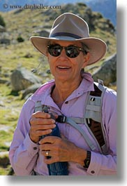 aiguestortes hike, emotions, europe, happy, people, polly, senior citizen, smiles, spain, tourists, vertical, photograph