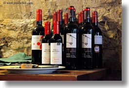 ainsa, bottles, europe, horizontal, spain, wines, photograph