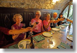 ainsa, emotions, europe, groups, happy, horizontal, people, senior citizen, smiles, spain, toasting, tourists, wines, photograph