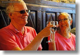 ainsa, couples, emotions, europe, happy, horizontal, men, people, senior citizen, smiles, spain, toasting, tourists, wines, womens, photograph