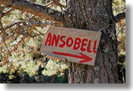 ansobell, ansovell, europe, horizontal, signs, spain, photograph