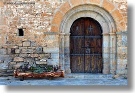 ansovell, archways, churches, doors, europe, horizontal, spain, structures, photograph