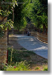 ansovell, europe, fences, motorcycles, picket, spain, vertical, photograph