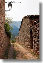 ansovell, europe, lamps, spain, stones, streets, vertical, walls, photograph
