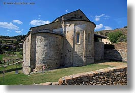 ancient, churches, estamariu, europe, horizontal, spain, photograph