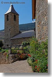 belfry, estamariu, europe, plants, spain, vertical, photograph
