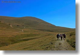 activities, estamariu, europe, hikers, hiking, horizontal, people, roads, spain, photograph