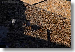 estamariu, europe, horizontal, lamps, rocks, spain, streets, walls, photograph