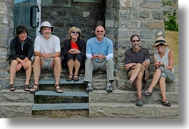 bald, emotions, europe, groups, happy, hikers, horizontal, mt bisaurin, people, smiles, spain, tourists, photograph