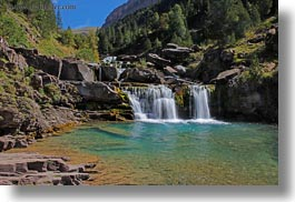 europe, horizontal, ordesa, spain, waterfalls, photograph