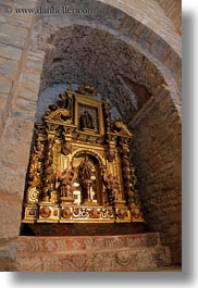 archways, churches, europe, iglesia monasterio de san pedro, ornaments, siresa, spain, structures, vertical, photograph