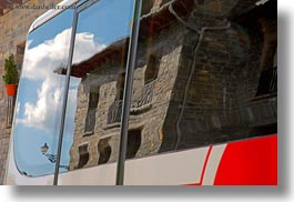 buildings, europe, horizontal, reflections, siresa, spain, photograph