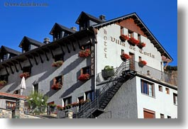 europe, facades, horizontal, hotel villa de torla, hotels, spain, torla, photograph
