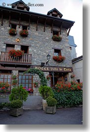 europe, facades, hotel villa de torla, hotels, spain, torla, vertical, photograph