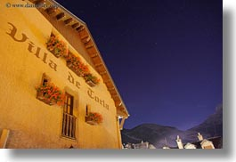 europe, horizontal, hotel villa de torla, hotels, long exposure, nite, spain, stars, torla, photograph