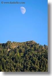 europe, hills, moon, over, rising, spain, torla, vertical, photograph