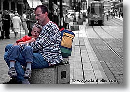 color composite, color/bw composite, europe, geneva, horizontal, marche, rue, switzerland, photograph