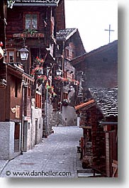 europe, flowery, grimentz, houses, switzerland, vertical, photograph