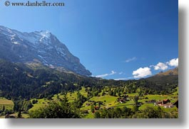 eiger, europe, faces, grindelwald, horizontal, mountains, nature, north, snowcaps, switzerland, photograph