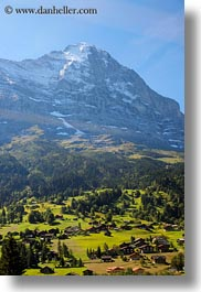 eiger, europe, faces, grindelwald, mountains, nature, north, snowcaps, switzerland, vertical, photograph