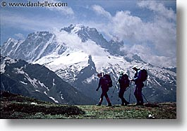 europe, hikers, horizontal, silhouettes, switzerland, photograph