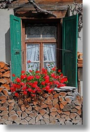 europe, flowers, gasterntal valley, kandersteg, switzerland, vertical, windows, photograph
