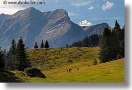 europe, hikers, hiking, horizontal, kandersteg, lake oeschinensee, mountains, people, switzerland, photograph