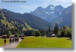 churches, europe, horizontal, kandersteg, mountains, nature, scenics, snowcaps, switzerland, photograph