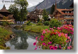 europe, flowers, horizontal, kandersteg, rivers, scenics, switzerland, photograph